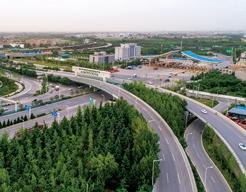 西安市西禹高速出入口立交桥